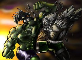 Hulk versus Doomsday by darklord028