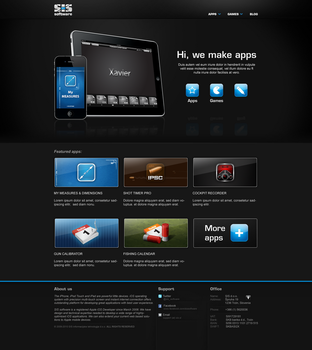 SIS software's home page by JureV