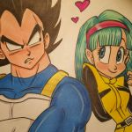 Commission: Vegeta and Bulma  by FrijolesGirl