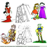 Don Quixote characters 03 by Kassworkshop