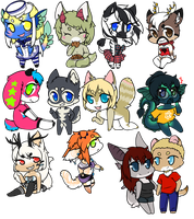 Tiny Chibis 3! by LovelessKia