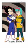 Futurama Vegeta and Bulma by Nightfable