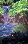Panther Waterfall by CozmicDreamer