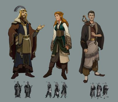 Some characters by Shagan-fury