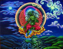 Green Tara 2 by Anastasia-Artist