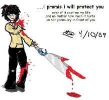 i promis i will protect you by darkangle911