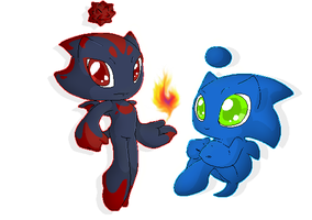 Sonic and Shadow Chaos :3 by KseniaLoveU