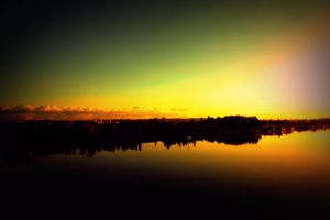 Sunrise Over The Columbia Slough by designerfied