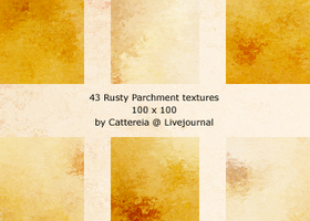 Rusty Parchment Textures by Cattereia