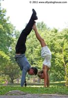 Freerunner - Gymnast Wedding: Handstand by ellysdoghouse