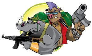 Bebop and Rocksteady by Epoole88