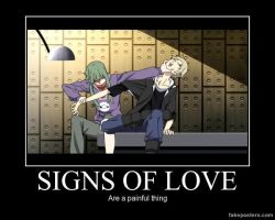 Mekakucity Actors Demotivational: Signs of Love by XxCelestialWolfxX