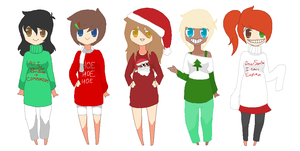Christmas-Themed Adopts -OTA- (1/5 available) by thatonenerdybroad
