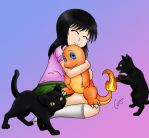 Commission - Arielle Loves Charmander by CessyWOTN