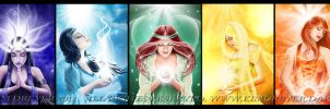 The 7 Chakras by AmberCrystalElf