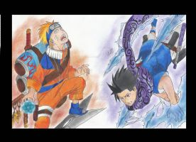 Naruto vs Sasuke by MTEvans
