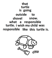 Responsible Turtle. by TwoDeeStuff