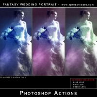 Fantasy Wedding Portrait by andreat1508