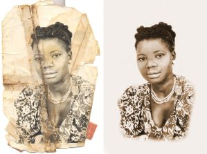 Photo Restoration - Before and After by anniemaeart