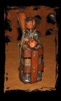 leather water bottle for larp by Lagueuse