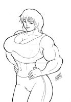 Bodybuilding girl by wyattx