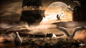Flying ghost ship by Altair-E