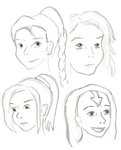 LOK OC Sketches by spazzerilla