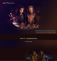 Kili and Fili Journal Skin by JacobBlacksPrincess