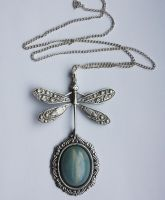 Dragonfly pendant by Pinkabsinthe