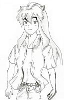 Inuyasha... somewhat modern by The-Jazmo