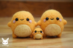 Felted Charmander Family by xxNostalgic
