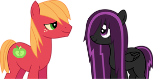 Purple Lightning and Big Macintosh (Request) by Budgeriboo
