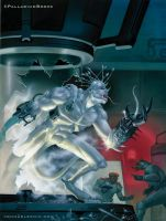 Rifts Lonestar cover for Palladium Books by Zeleznik