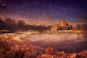 Lake castle by Piroshki-Photography