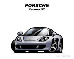 Chibi Porsche Carrera GT by CGVickers