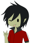 chibi marshall lee by mo0on3