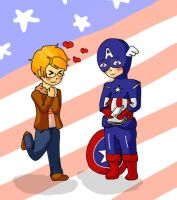 Captain America's number one fan by Inunobaka