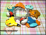 Custom Pokemon Bracelet by GrandmaThunderpants
