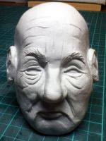 Old man sculpture by ScenicGrace