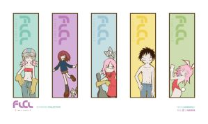 FLCL Bookmark Collection by Pencil-Dragonslayer