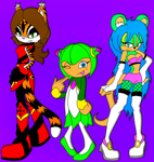 C: Jade, Lily, and Cosmo by DarkSonic250