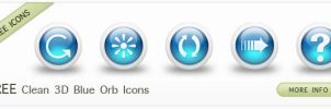 3D Clean Glossy Blue Orb Icons by IconsEtc