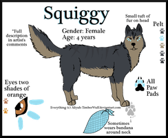 Ref: Squiggy by The--Working-Wulf