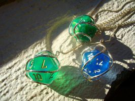 Role Playing nerd pendants by LARvonCL