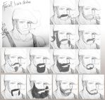 Character design -Facial hair studies by MaKuZoKu