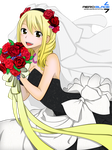 The Bride Lucy - Fairytail(Coloring) by aeroblade7