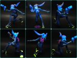 Zero Suit Papercraft under Blacklight by BRSpidey