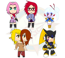 Assorted Chibis - Set 32 by Dragon-FangX
