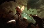 Geralt vs Aliens by Telmand