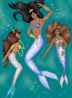 Character Design-- Mermaids by Afraid-YoureNext
